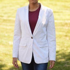 Ann Taylor: Light Beige Womans Suit Jacket Size 8
